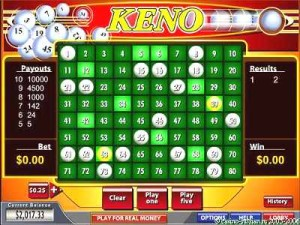 how to play keno and win